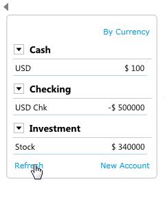 stock account summary
