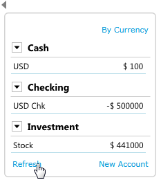 account summary updated for stock account