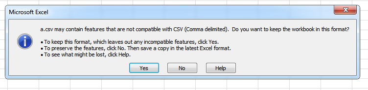 Saving transactions as CSV format