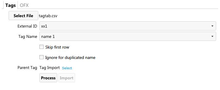 Choosing a CSV source file